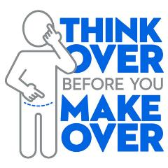 Think Over before you make over logo