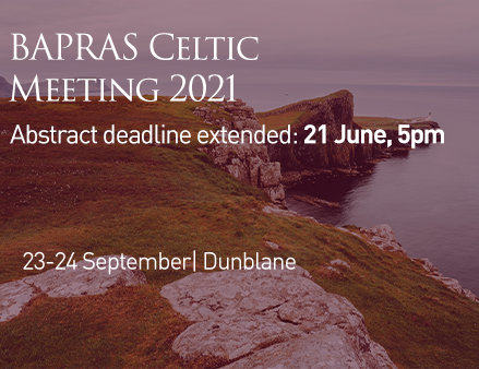 BAPRAS Celtic Meeting 2021 - Submit an abstract